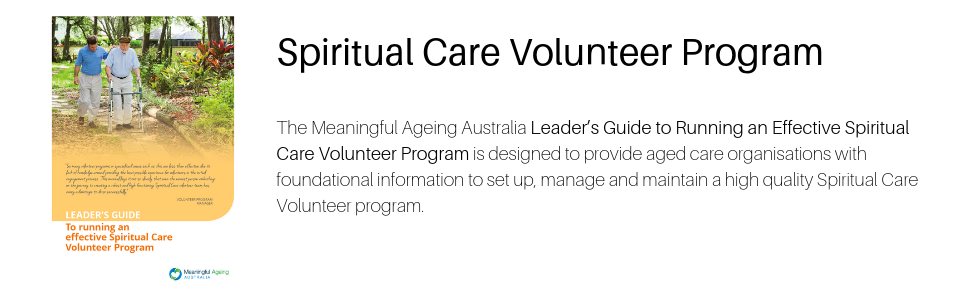 Spiritual Care Volunteer Program